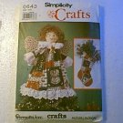 Wamsutta OTC Christmas Angel Doll Wreath Skirt Stockings Placemats Simplicity Pattern 0643 Cut