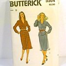 Misses Dress Top Blouse Skirt Sz 10 12 14 Butterick Sewing Pattern 3304 Uncut