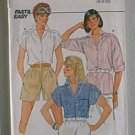 Misses Blouse Top Butterick Sewing Pattern 6542 Sz 6 8 10 Uncut