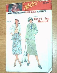 Misses Jacket & Skirt Marie Osmond Butterick Sewing Pattern 6420 Sz C 12 14 16 Uncut