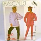 The Gap Top & Pants Stretch Knit McCalls Sewing Pattern 2099 Sz 16 1985 Uncut