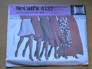 Skirt 6 Lengths McCalls Sewing Pattern 4132  W24 L33.5 Uncut