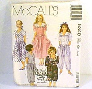 Girls Dress Jumpsuit 2 Lengths McCalls Sewing Pattern 5340 Sz 7 8 10 Uncut