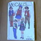 Childs Vest Skirt Pants Knickers Apliques McCalls Sewing Pattern 7756 Sz 6 Uncut