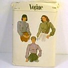Misses Blouse 3 Versions Tops Vogue Sewing Pattern 7877 Sz 14 Cut