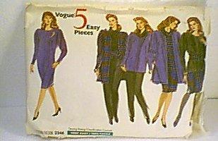 Misses Jacket Dress Top Skirt Pants Tube Sash Vogue Sewing Pattern 2346 Sz 14 16 18 Cut