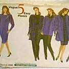 Misses Jacket Dress Top Skirt Pants Tube Sash Vogue Sewing Pattern 2346 Sz 14 16 18 Cut
