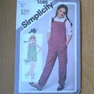 Girls Sunsuit Jump Suit Romper Pull-on Simplicity Sewing Pattern 5688 Sz 8 Uncut