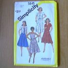 Misses Top Blouse or Dress Simplicity Sewing Pattern 5845 Sz 10 Miss Uncut