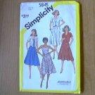 Misses Top Blouse or Dress Simplicity Sewing Pattern 5845 Sz 10 Miss Uncut