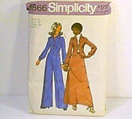 Unlined Jacket Skirt Pants Simplicity Sewing Pattern 5866 Sz 16 Miss Uncut