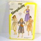 Pullover Dresses with Surplice Bodice Simplicity Sewing Pattern 5989 Sz 14 Miss Uncut
