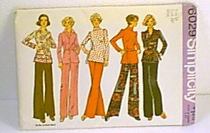Womans Top Blouse Pants Simplicity Sewing Pattern 6029 Sz 12 Miss Uncut