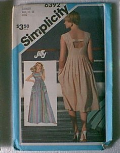 Jiffy Pullover Dress 2 Lengths Simplicity Sewing Pattern 6392 Sz  14 16 Miss Uncut