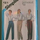 Personal fit Pants for Stretch Knit Simplicity Sewing Pattern 6519 Sz 12 Miss Uncut