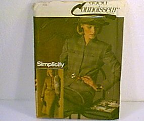 Connoisseur Misses Lined Suit Jacket Skirt Simplicity Sewing Pattern 6580 Sz 12 Miss Uncut
