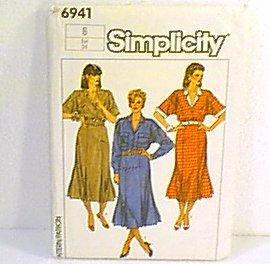 Misses Dress Adjustable for Petite Simplicity Sewing Pattern 6941 Sz 6 Miss Uncut