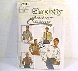 Connoisseur Mens Shirts Good Envelope Simplicity Sewing Pattern 7015 Sz 44 Mens Uncut