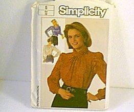 Misses Blouses Tops Simplicity Pattern 7092 Sz 8 Uncut