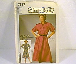 Misses Loose Fitting Dress Adjustable to Ms Petite Simplicity Sewing Pattern 7367 Sz 12 Uncut