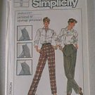Misses Pants Slacks Simplicity Sewing Pattern 7584 Sz 12 Uncut