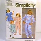 Girls Dress or Jumpsuit Simplicity Sewing Pattern 7638 Sz AA 7 - 10 Uncut