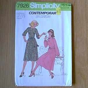 Jrs Juniors Dress Simplicity Sewing Pattern 7926 Sz 9 & 11 Jr Uncut