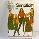 Misses Skirts 2 Lengths Pants Top Blouse Lined Vest Simplicity Sewing Pattern 8016 Sz 12 - 18 Uncut