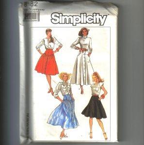 Misses Skirt 2 Lengths Simplicity Sewing Pattern 8182 Sz 10 12 14 Uncut