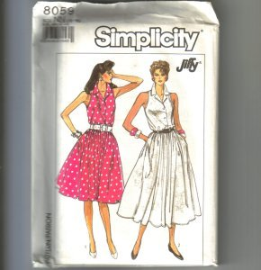 2 Jiffy Misses Dresses Adjustable to Miss Petite Simplicity Sewing Pattern 8059 Sz 10 - 16 Uncut