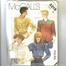 Ladies Tops Blouse McCalls Sewing Pattern 2218 Sz 14 Uncut