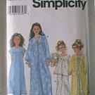 Childs Sleepwear Gown Robe PJs Pajamas Simplicity Sewing Pattern 8488 Sz 7 8 10 12 Cut