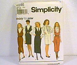 Misses Jumper Dress 2 Lengths Simplicity Sewing Pattern 8546 Sz 6 - 10 Uncut