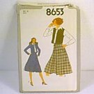 Misses Skirt Unlined Jacket Vest Poor Envelope Simplicity Sewing Pattern 8653 Sz 10 Miss Uncut