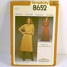 Misses Pullover 2 Pc Dress 2 Lengths Simplicity Sewing Pattern 8652 Sz 16 Miss Uncut