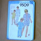 Boys Teen Pajamas 2 Lengths Sleepwear Simplicity Sewing Pattern 9509 Sz 6 8 Boy Uncut