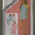 Girls Pullover Nightshirt Pajamas Baby Dolls Simplicity Sewing Pattern 9788 Sz 12 Girl Uncut