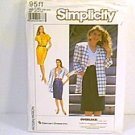 Damon Inc Overlock Misses Dress Unlined Jacket Simplicity Sewing Pattern 9511 Sz 16 0 24 Uncut