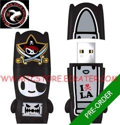Pirate Nero mimobot® 1GB USB Flash Drive by tokidoki