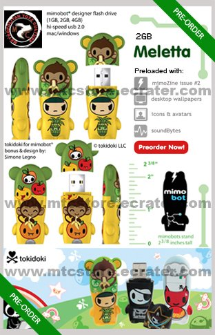 Meletta mimobot® 2GB USB Flash Drive by tokidoki