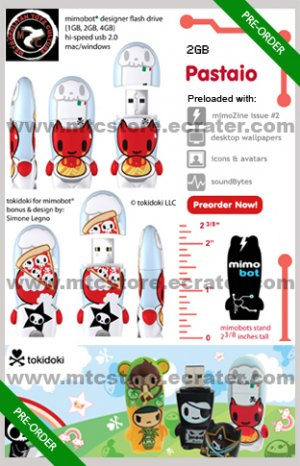 Pastaio mimobot® 2GB USB Flash Drive by tokidoki