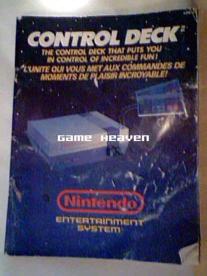 NES Control Deck Large Instruction Manual