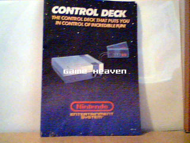 NES Control Deck Smaller Instruction Manual