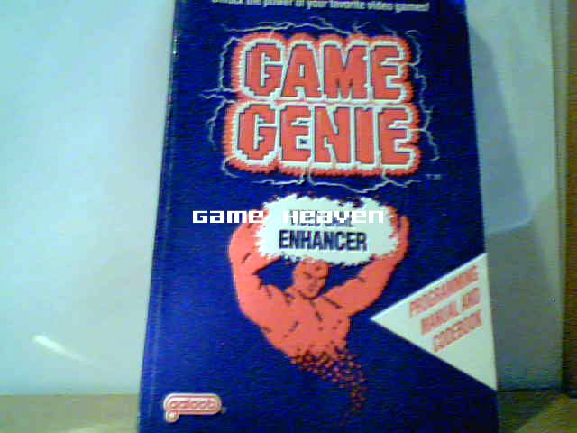 Game Genie Manual