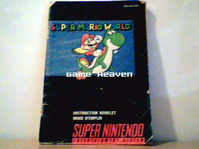 Super Mario World Instruction Booklet