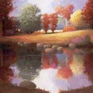 "NATURE SCENERY OIL PAINTING ON CANVAS 20""X24"""