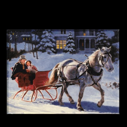 "SLEIGH RIDER ON CANVAS 20""X24"""