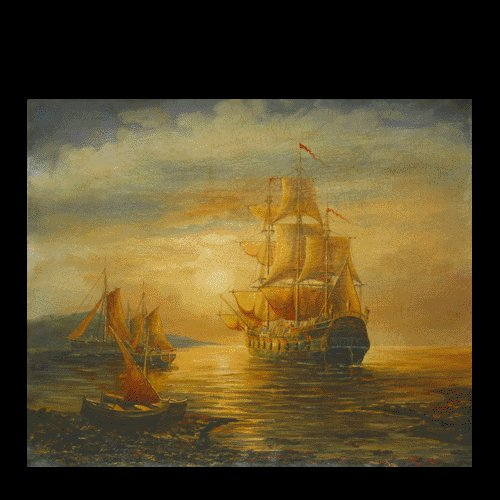"""BOAT-SEA 006 OIL PAINTING ON CANVAS 20""""X24"""""""
