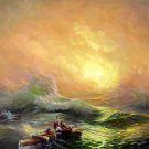 "BOAT-SEA 031 OIL PAINTING ON CANVAS 20""X24"""