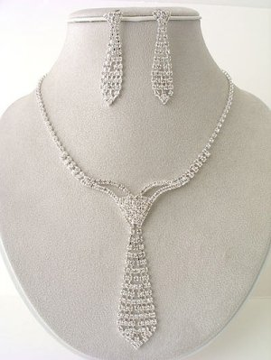 Designer Necktie Necklace/Earring Set Reg $69.99
